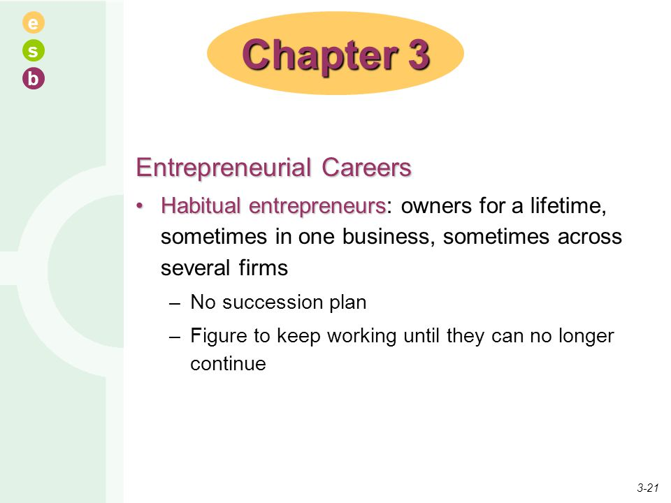Chapter 3 Entrepreneurial Careers