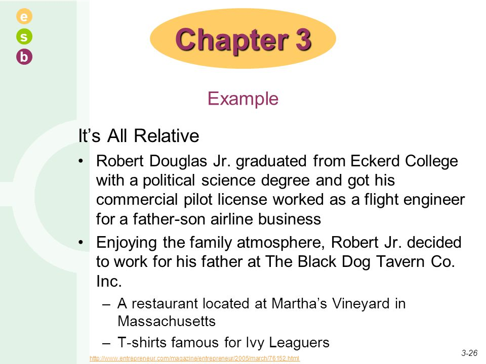Chapter 3 Example It's All Relative