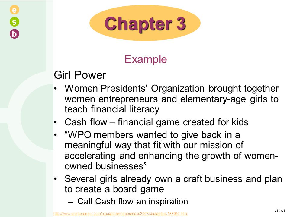 Chapter 3 Example Girl Power