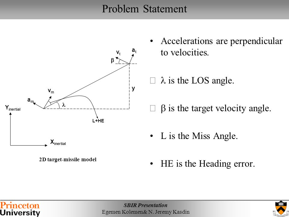 Problem Statement Accelerations are perpendicular to velocities.