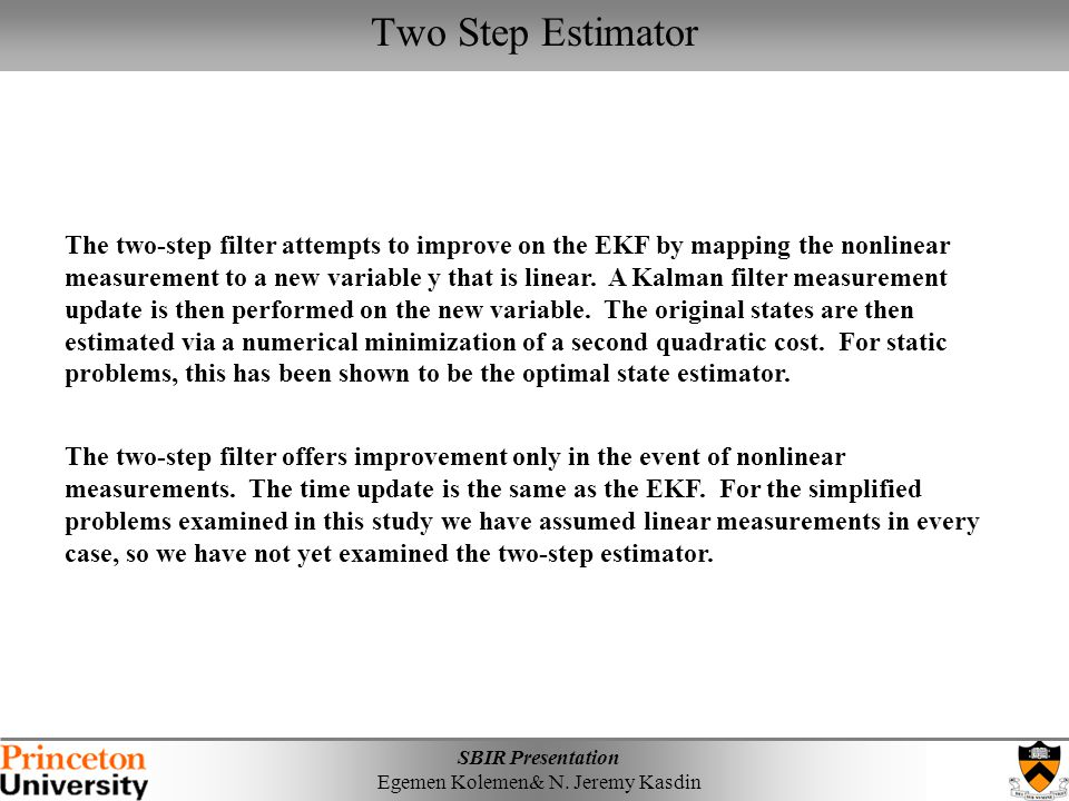 Two Step Estimator