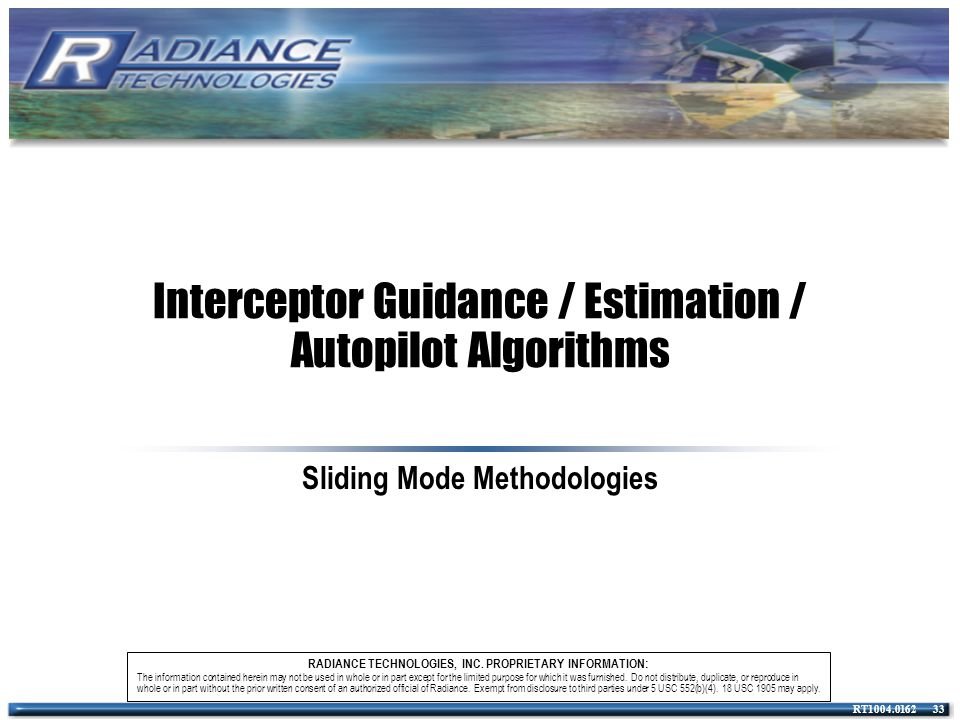 Interceptor Guidance / Estimation / Autopilot Algorithms
