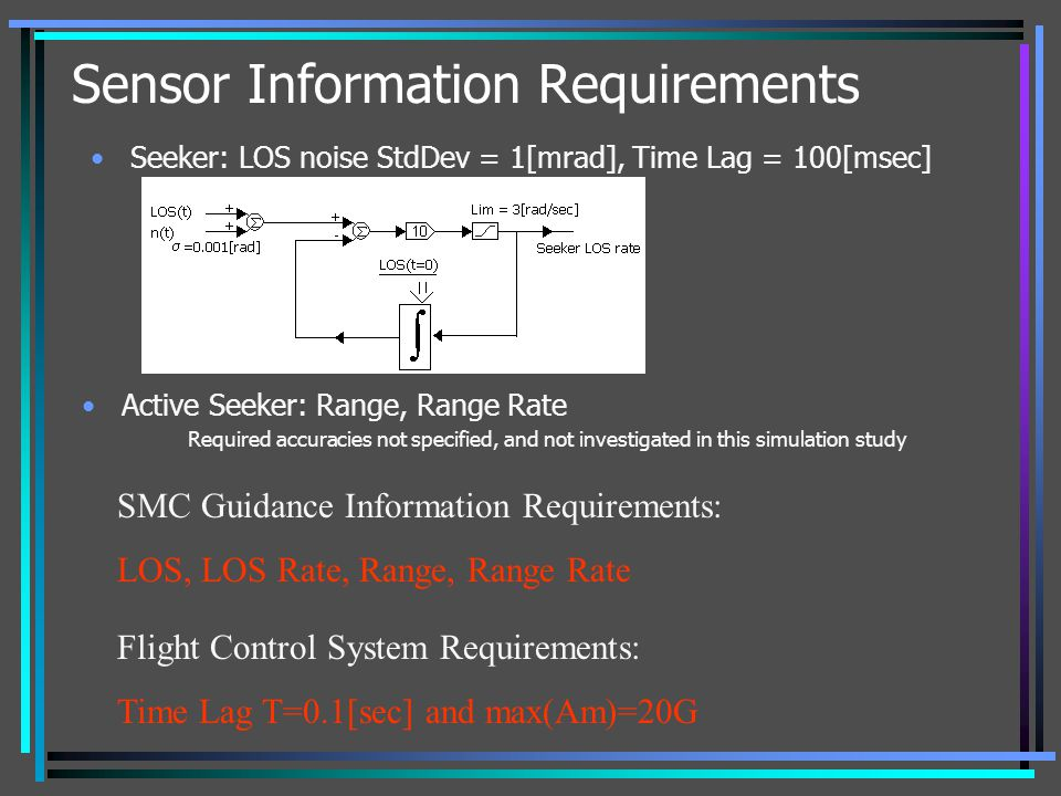 Sensor Information Requirements