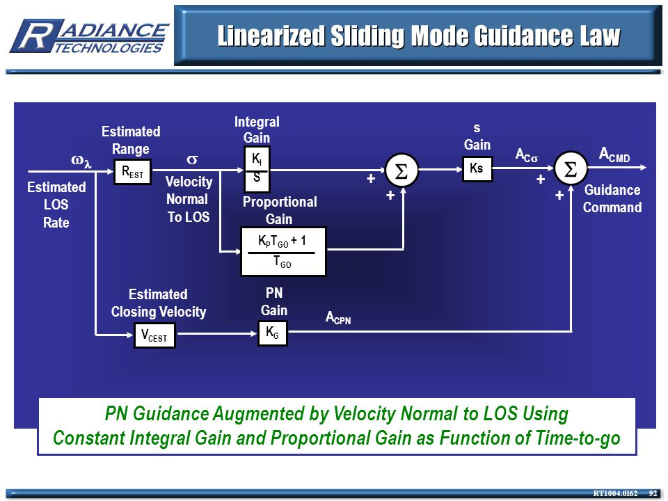 Linearized Sliding Mode Guidance Law