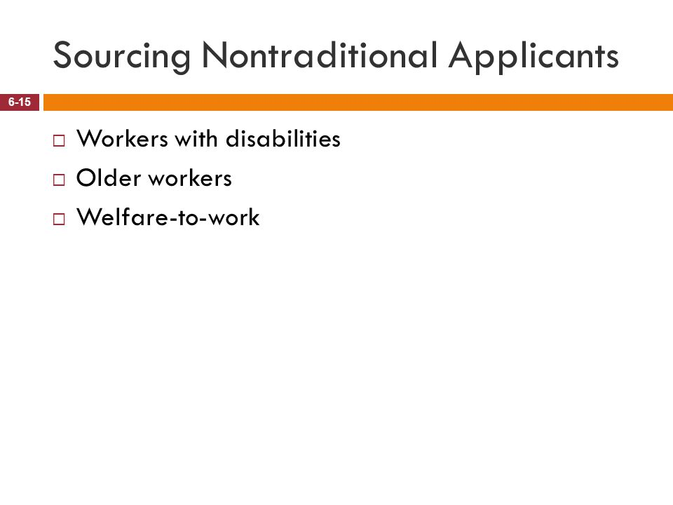Sourcing Nontraditional Applicants