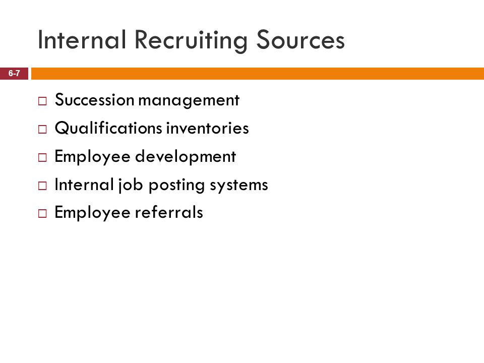Internal Recruiting Sources