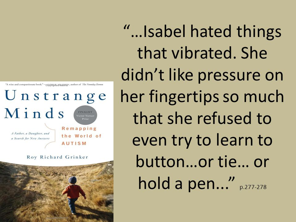 …Isabel hated things that vibrated