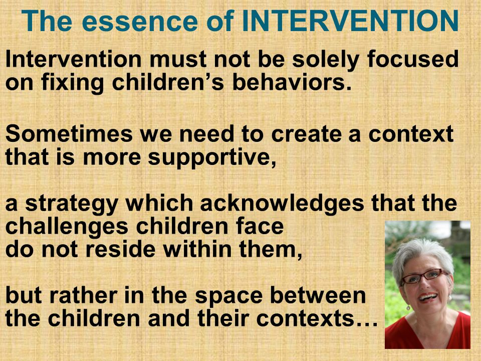 The essence of INTERVENTION