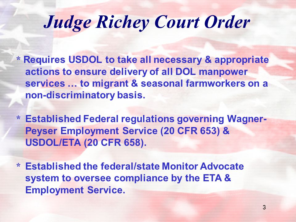 Judge Richey Court Order