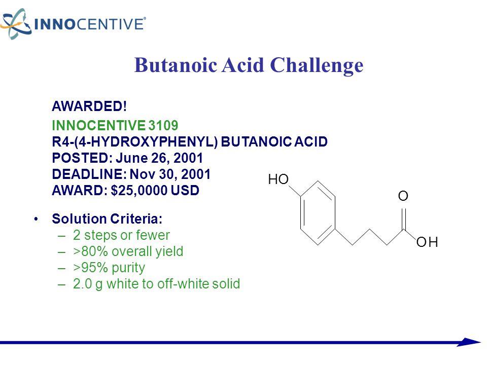 Butanoic Acid Challenge