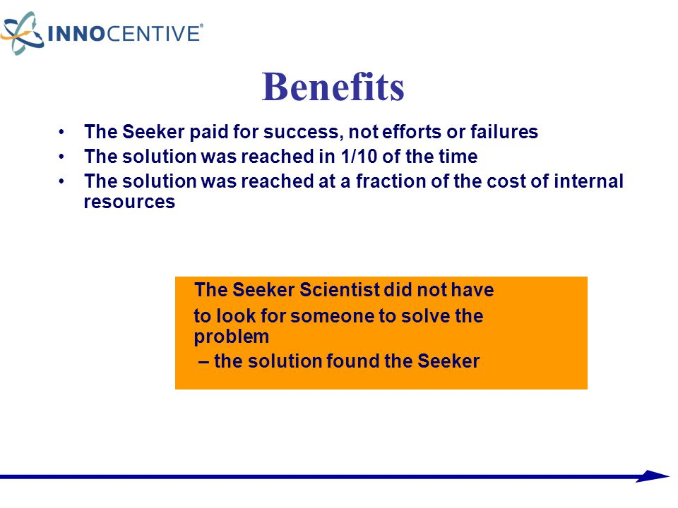 Benefits The Seeker Scientist did not have