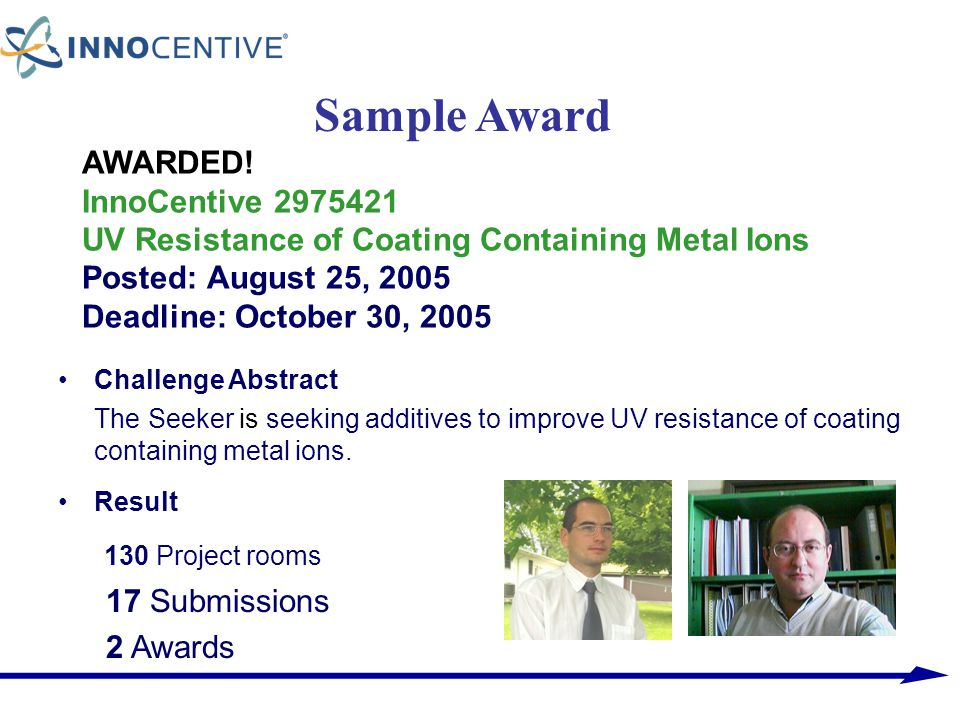 Sample Award 130 Project rooms