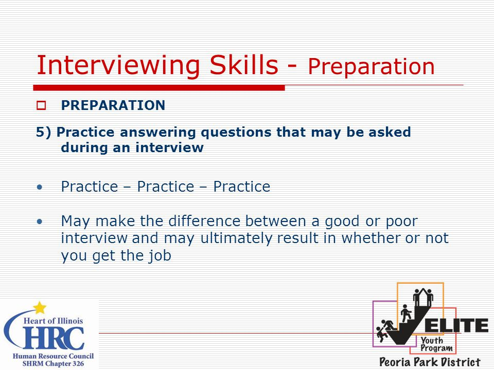 Interviewing Skills - Preparation