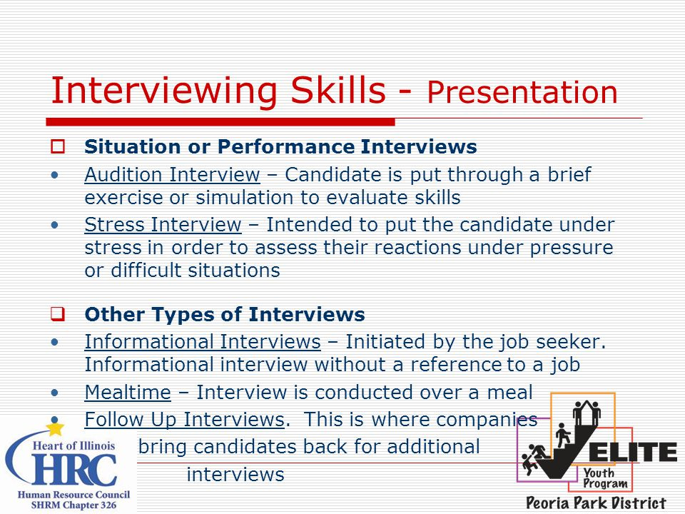 Interviewing Skills - Presentation