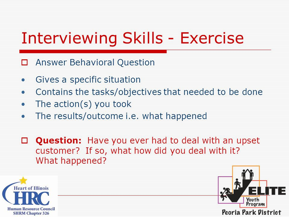 Interviewing Skills - Exercise