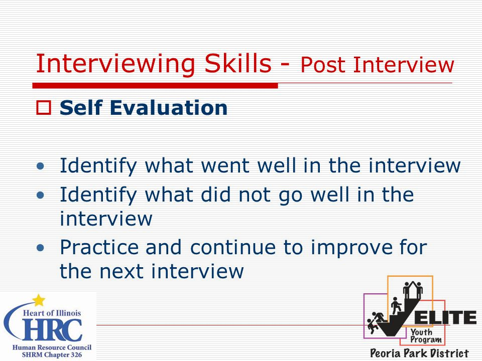 Interviewing Skills - Post Interview