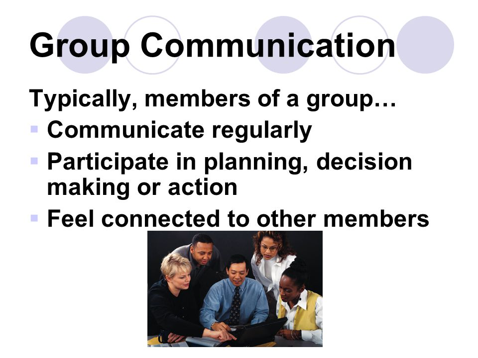 Group Communication Typically, members of a group…