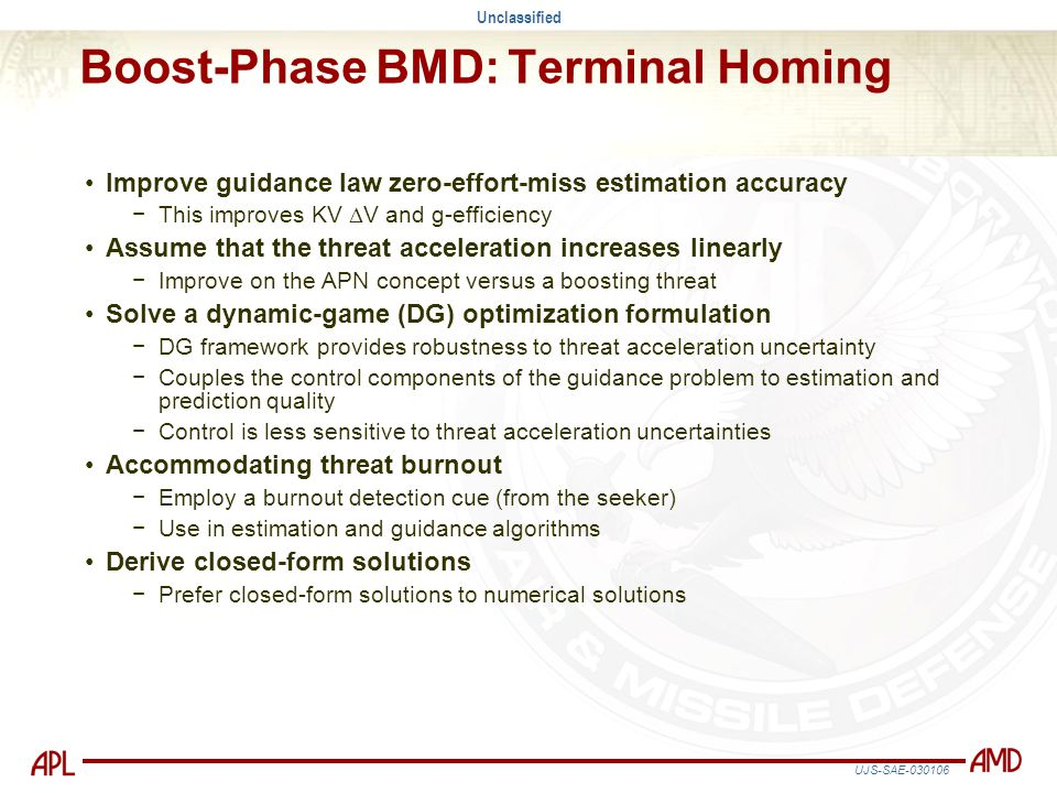 Boost-Phase BMD: Terminal Homing