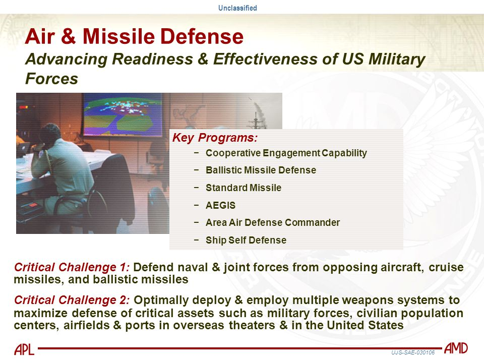 Air & Missile Defense Advancing Readiness & Effectiveness of US Military Forces