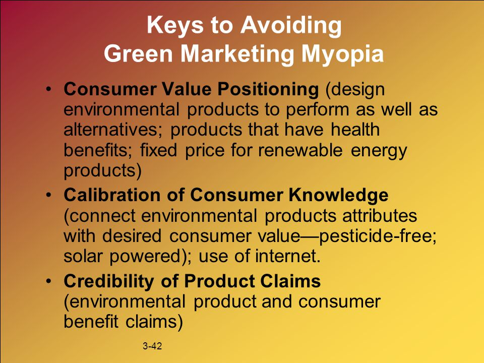 Keys to Avoiding Green Marketing Myopia