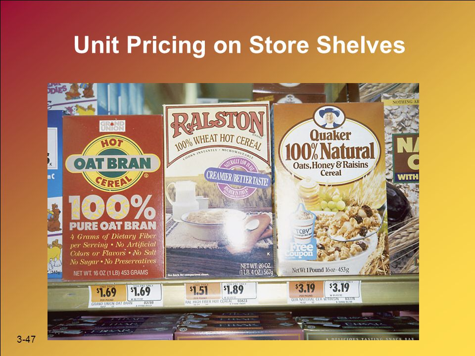 Unit Pricing on Store Shelves