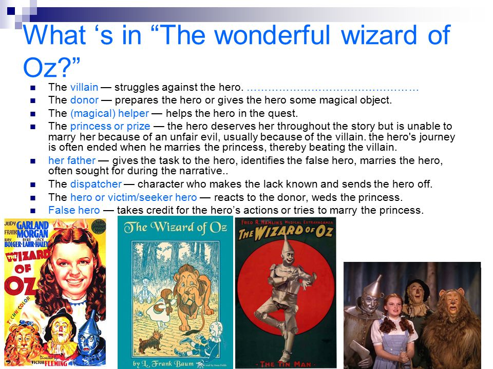 What 's in The wonderful wizard of Oz