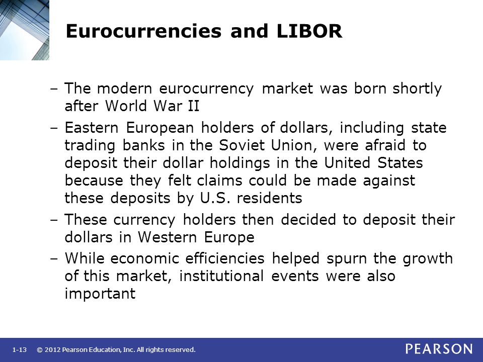 Eurocurrencies and LIBOR