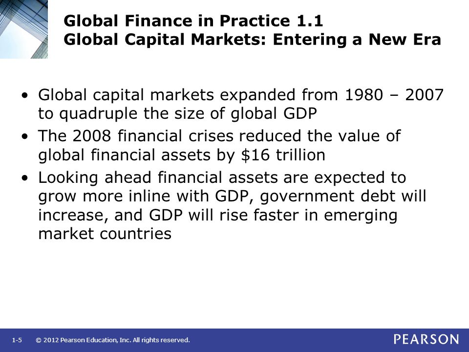 Global Finance in Practice 1