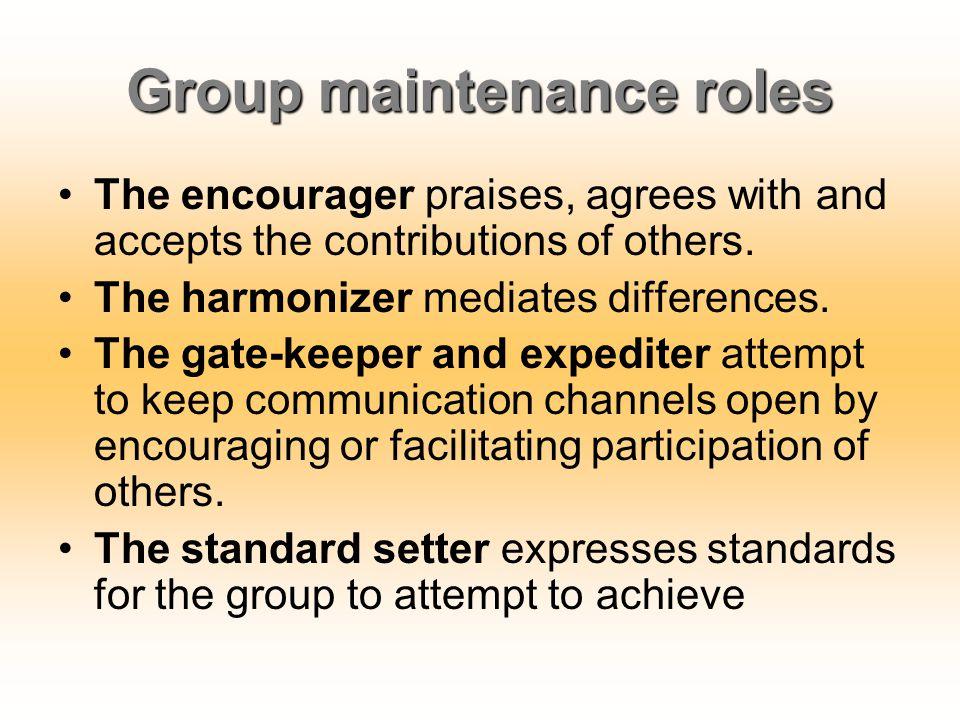 Group maintenance roles