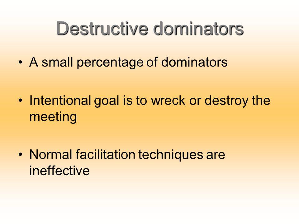 Destructive dominators