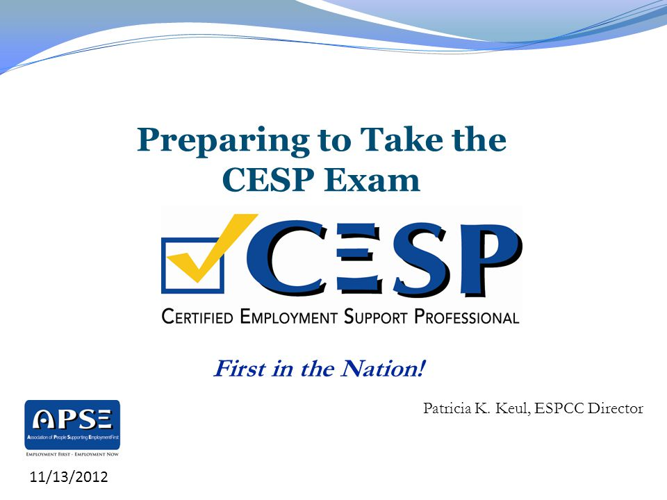 Preparing to Take the CESP Exam