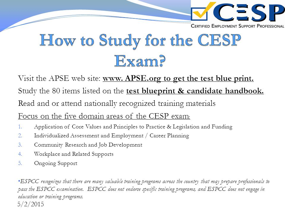 How to Study for the CESP Exam