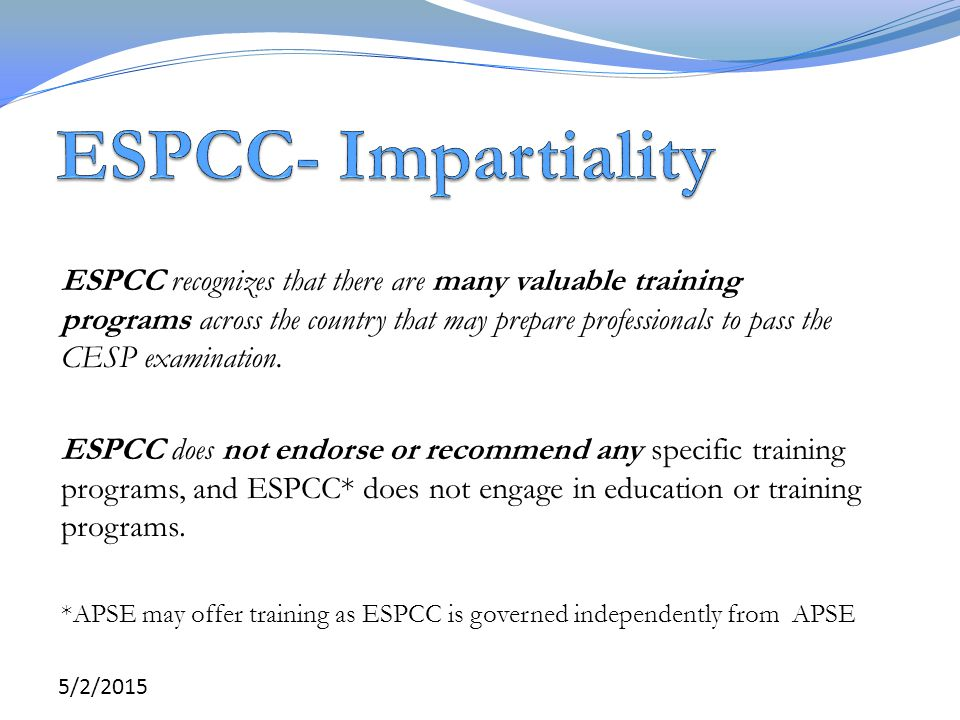 ESPCC- Impartiality