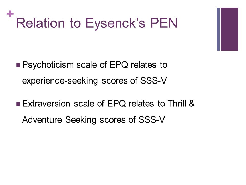 Relation to Eysenck's PEN
