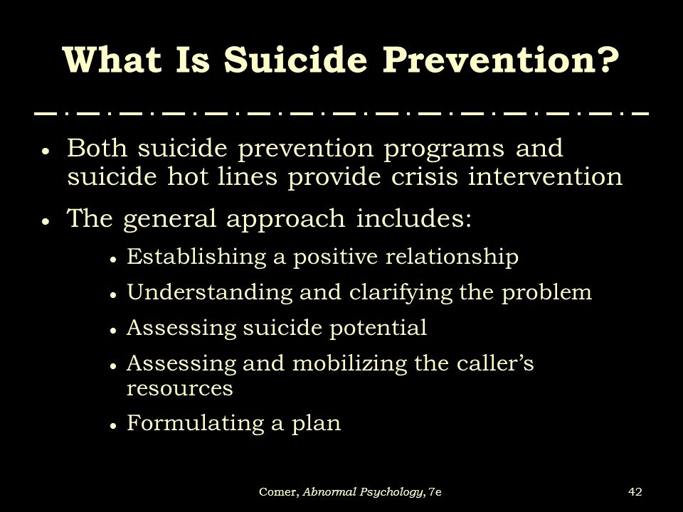 What Is Suicide Prevention