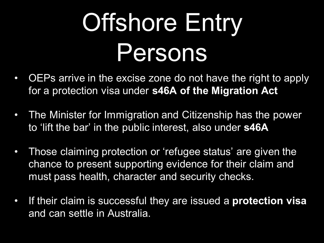 Offshore Entry Persons