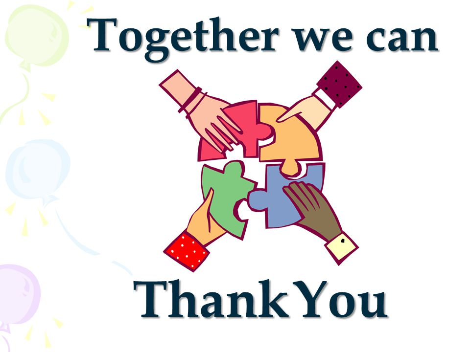 Together we can Thank You