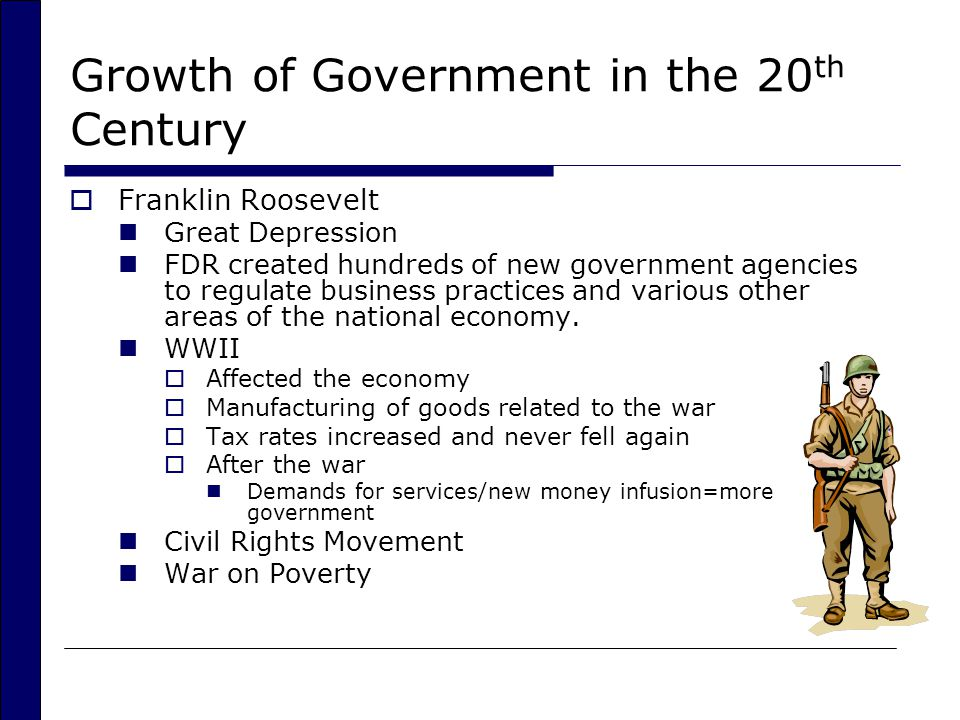 Growth of Government in the 20th Century