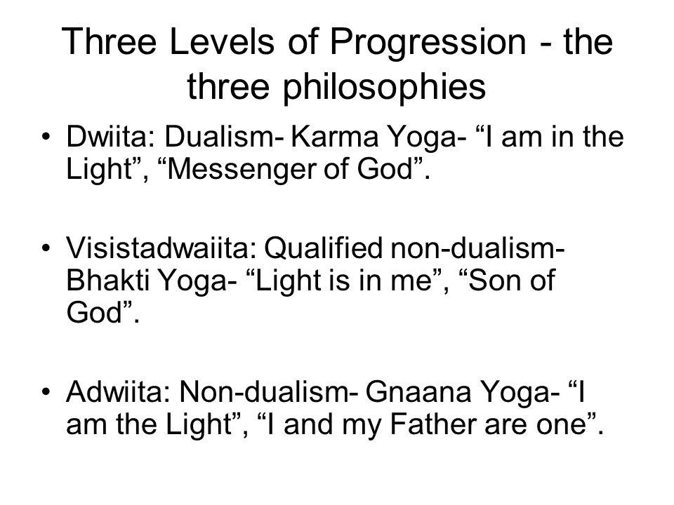Three Levels of Progression - the three philosophies