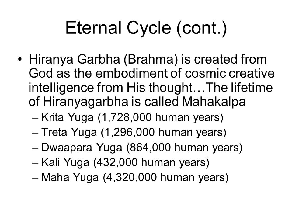 Eternal Cycle (cont.)