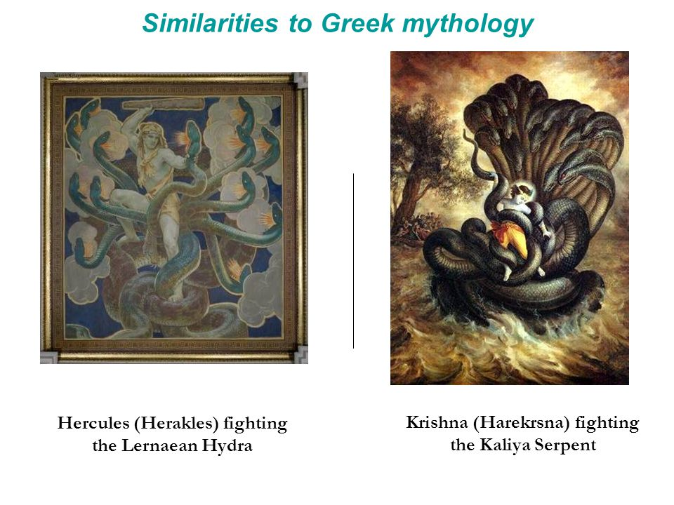 Similarities to Greek mythology