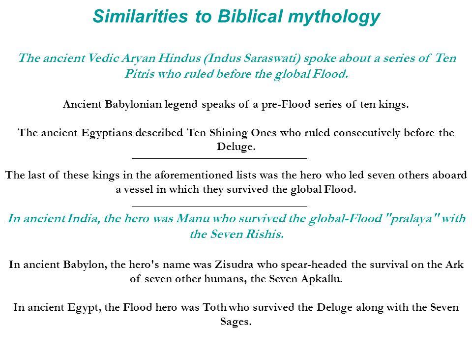 Similarities to Biblical mythology