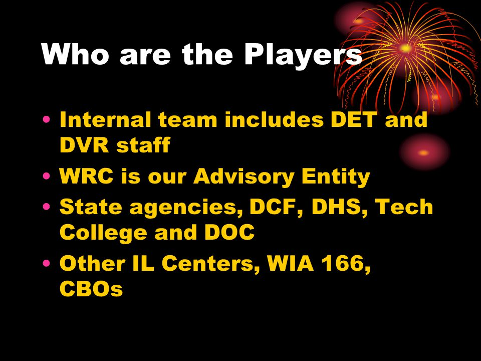 Who are the Players Internal team includes DET and DVR staff