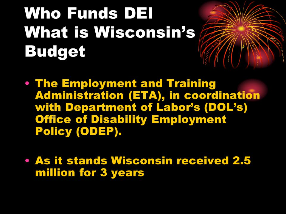 Who Funds DEI What is Wisconsin's Budget