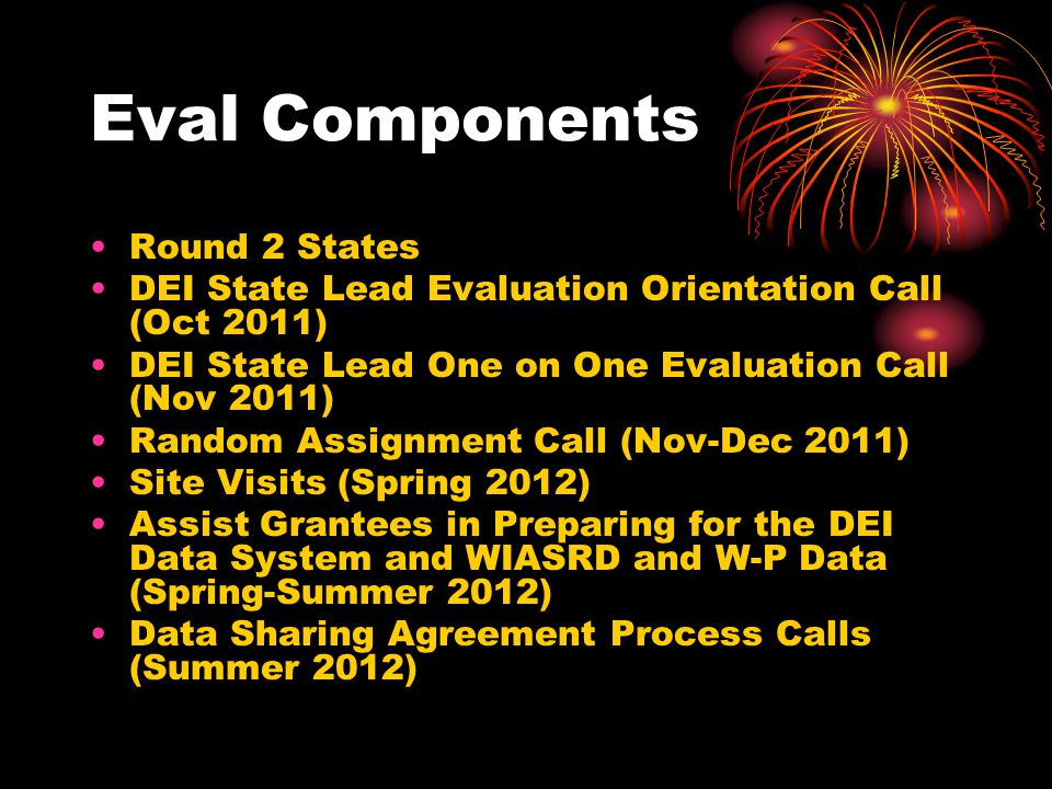 Eval Components Round 2 States