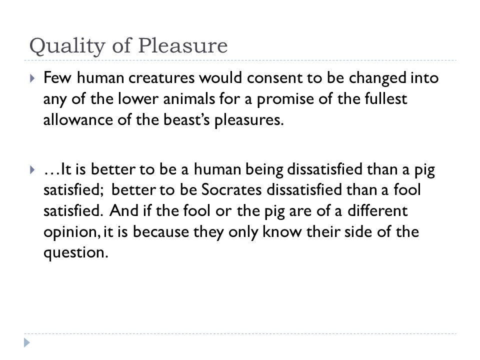 Quality of Pleasure