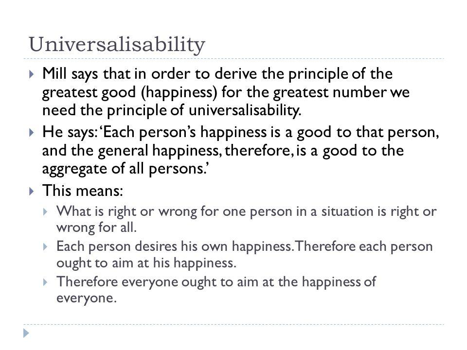 Universalisability