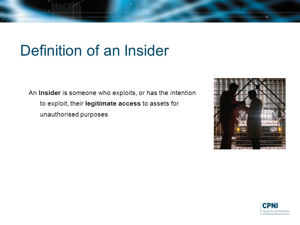 Definition of an Insider