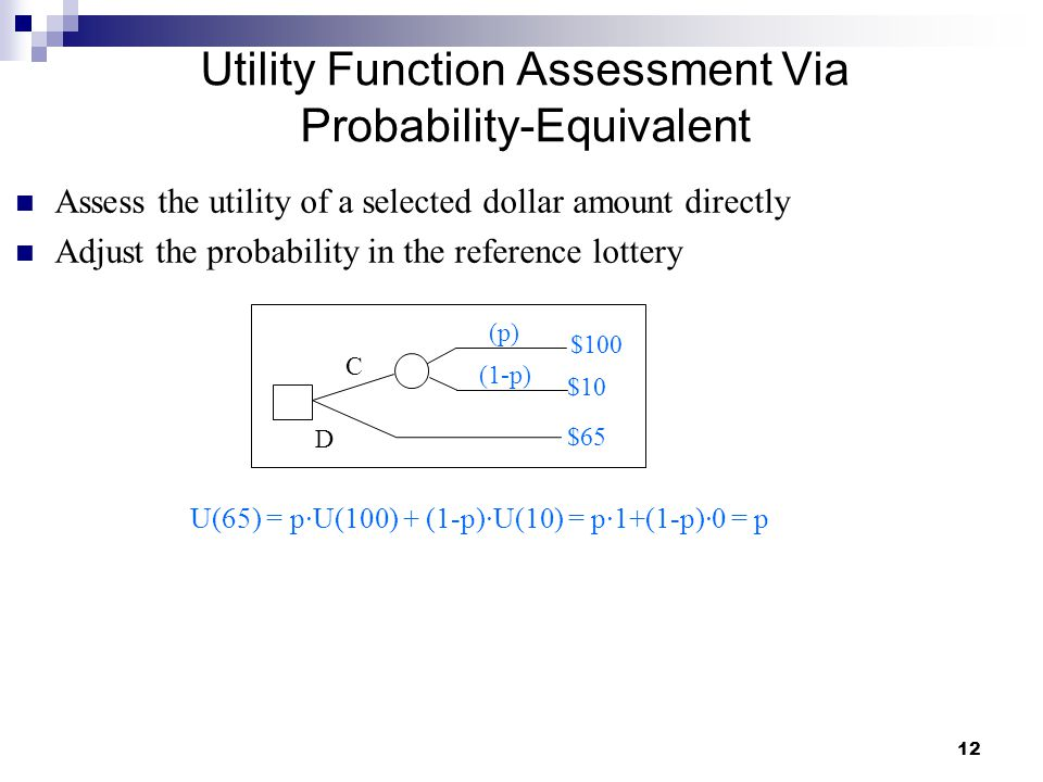 Utility Function Assessment Via Probability-Equivalent