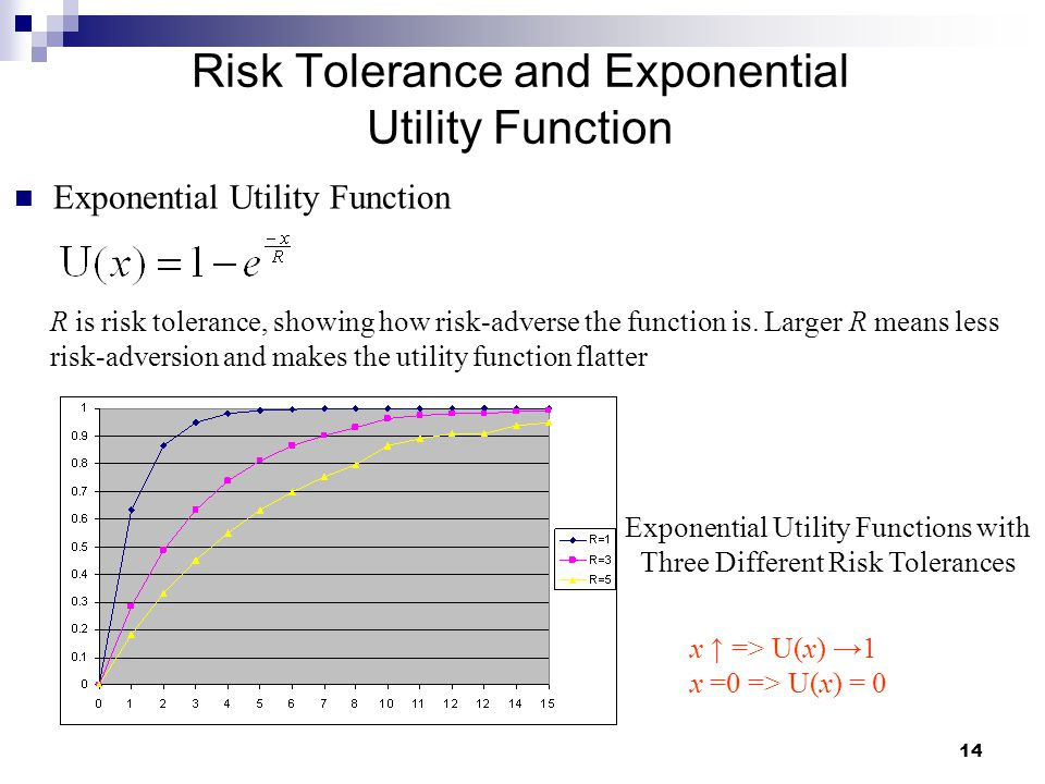 Risk Tolerance and Exponential Utility Function